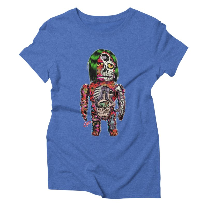 DISSECTED CAVEMAN Women's Triblend T-Shirt by artofcoop's Artist Shop