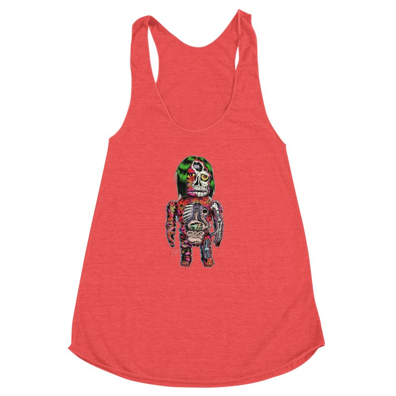 DISSECTED CAVEMAN Women's Racerback Triblend Tank by The Art of Coop
