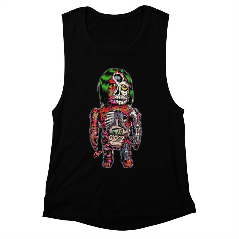 DISSECTED CAVEMAN Women's Muscle Tank by The Art of Coop