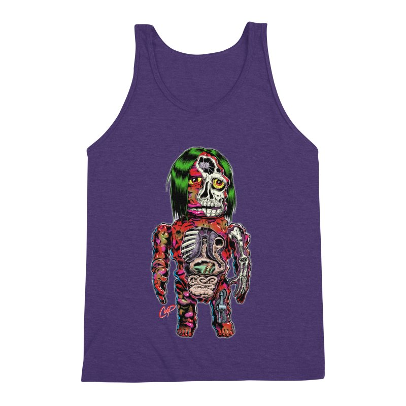 DISSECTED CAVEMAN Men's Triblend Tank by The Art of Coop