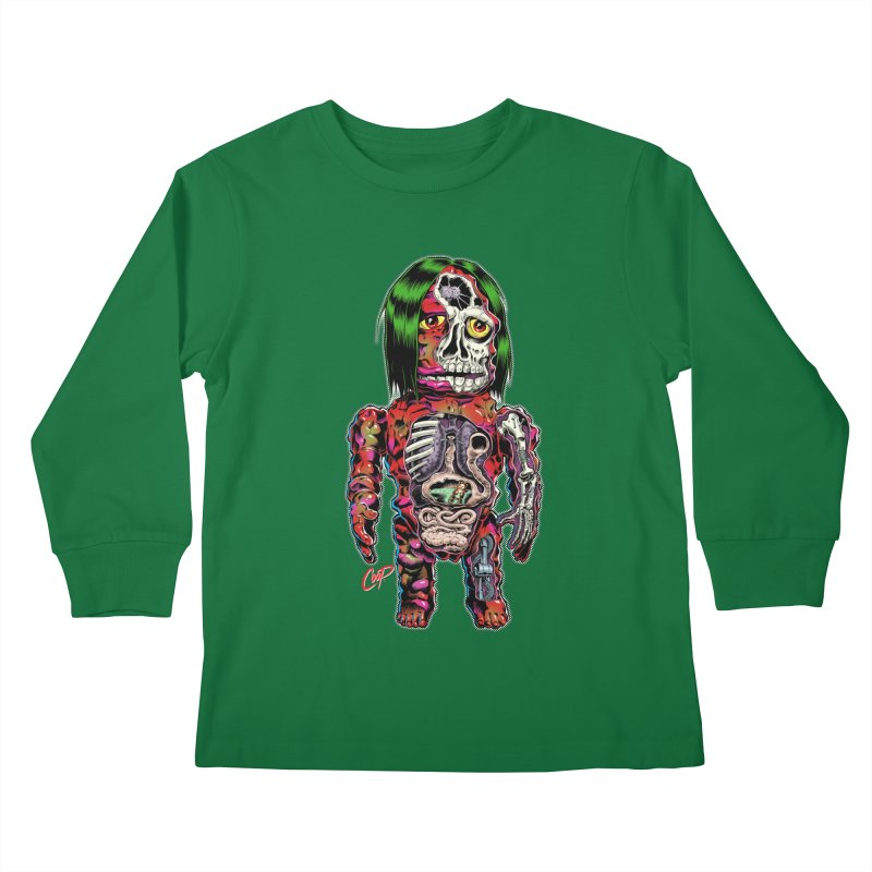 DISSECTED CAVEMAN Kids Longsleeve T-Shirt by The Art of Coop