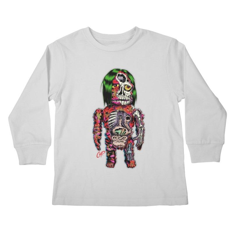 DISSECTED CAVEMAN Kids Longsleeve T-Shirt by artofcoop's Artist Shop