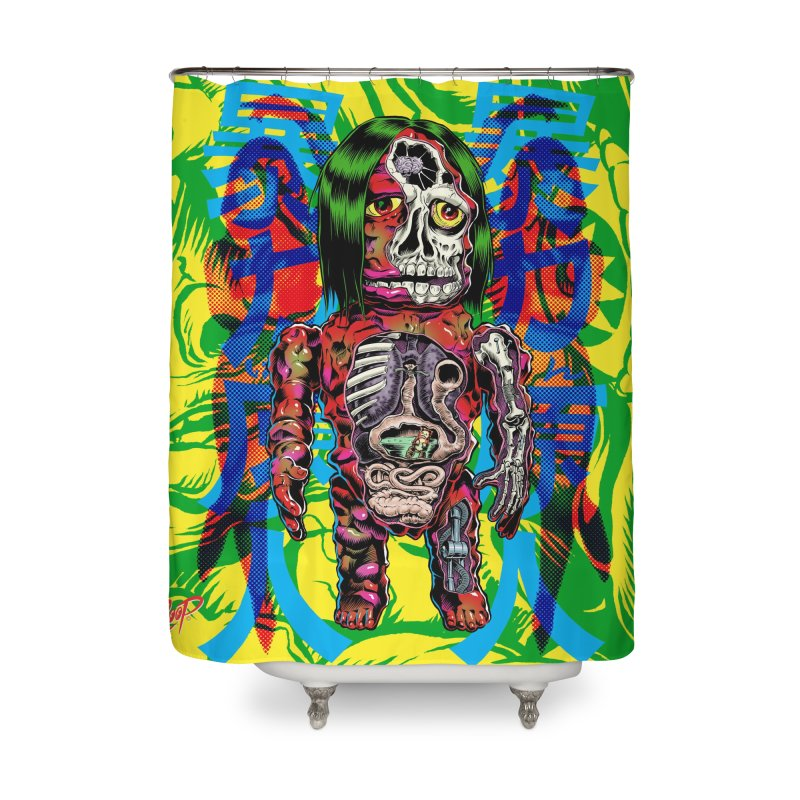 DISSECTED CAVEMAN Home Shower Curtain by The Art of Coop