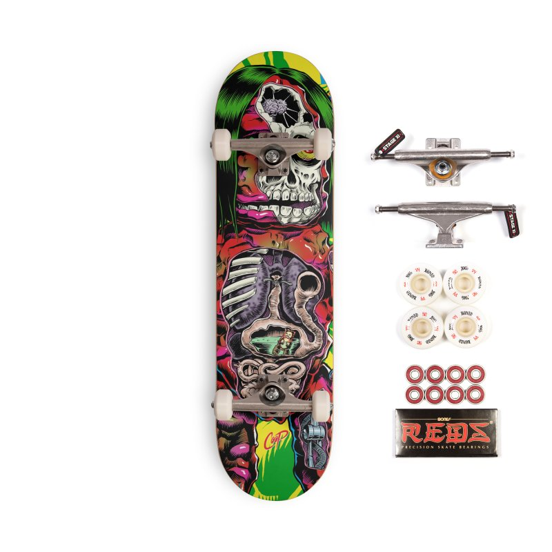 DISSECTED CAVEMAN Accessories Complete - Pro Skateboard by The Art of Coop