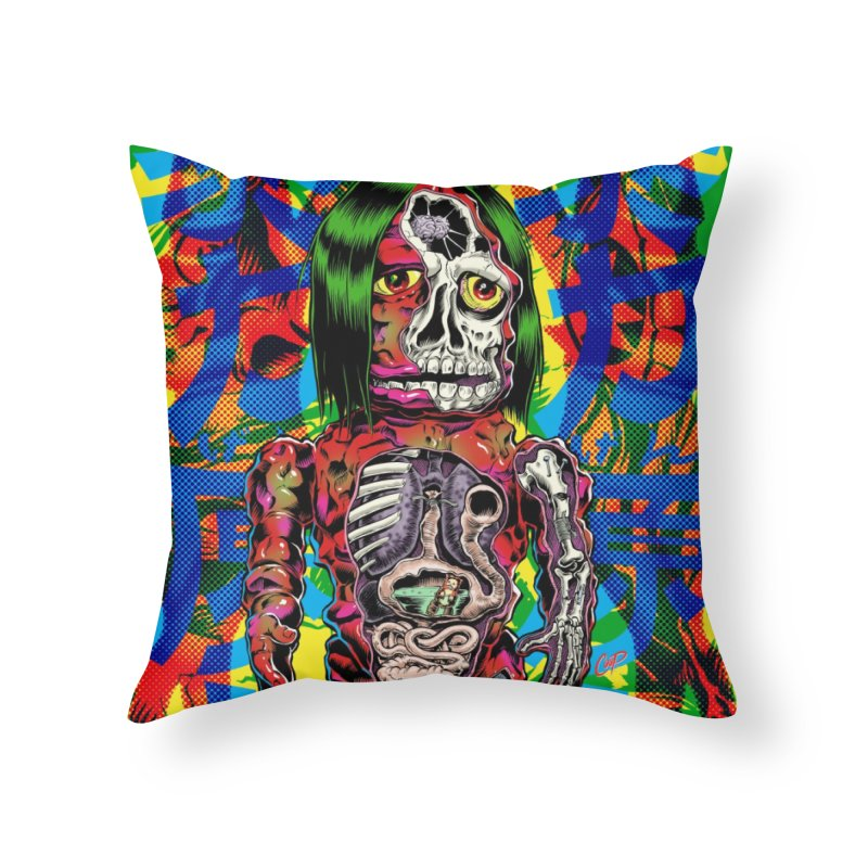 DISSECTED CAVEMAN Home Throw Pillow by The Art of Coop