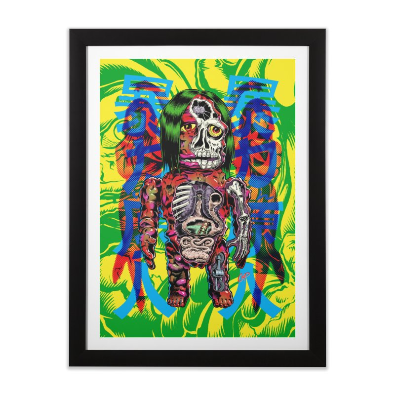 DISSECTED CAVEMAN Home Framed Fine Art Print by The Art of Coop