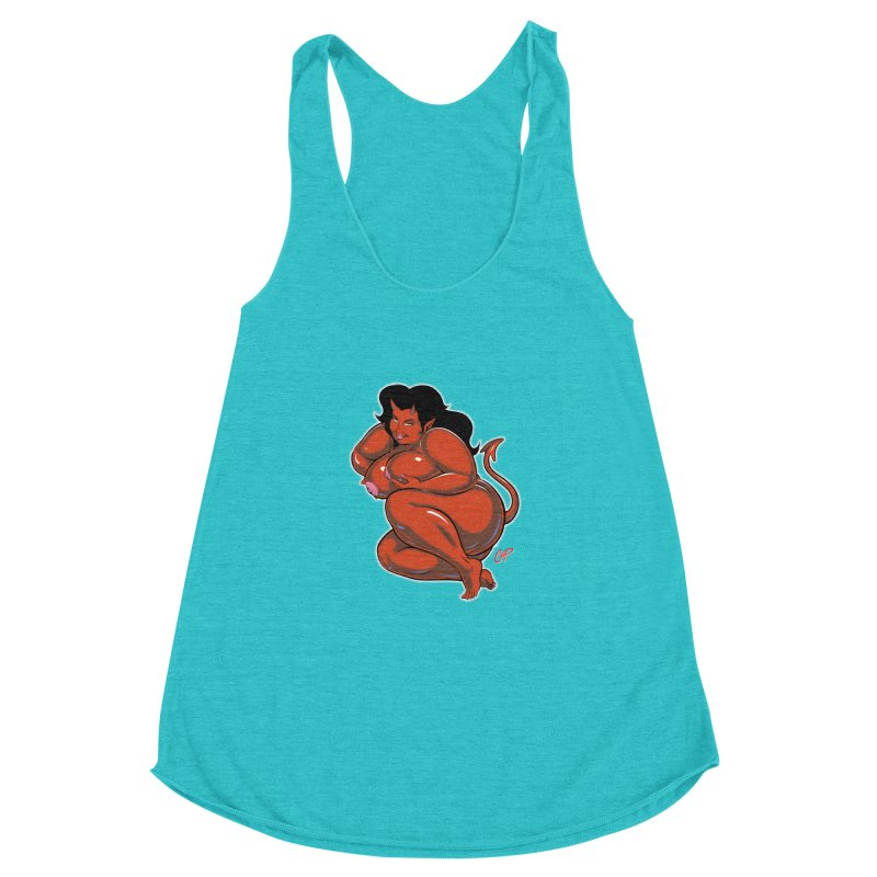 CURVILICIOUS Women's Racerback Triblend Tank by The Art of Coop
