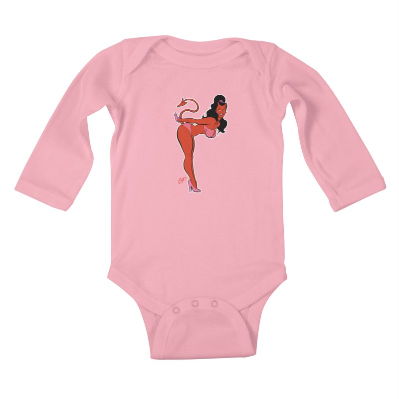 THE DEVIL'S BIKINI Kids Baby Longsleeve Bodysuit by artofcoop's Artist Shop