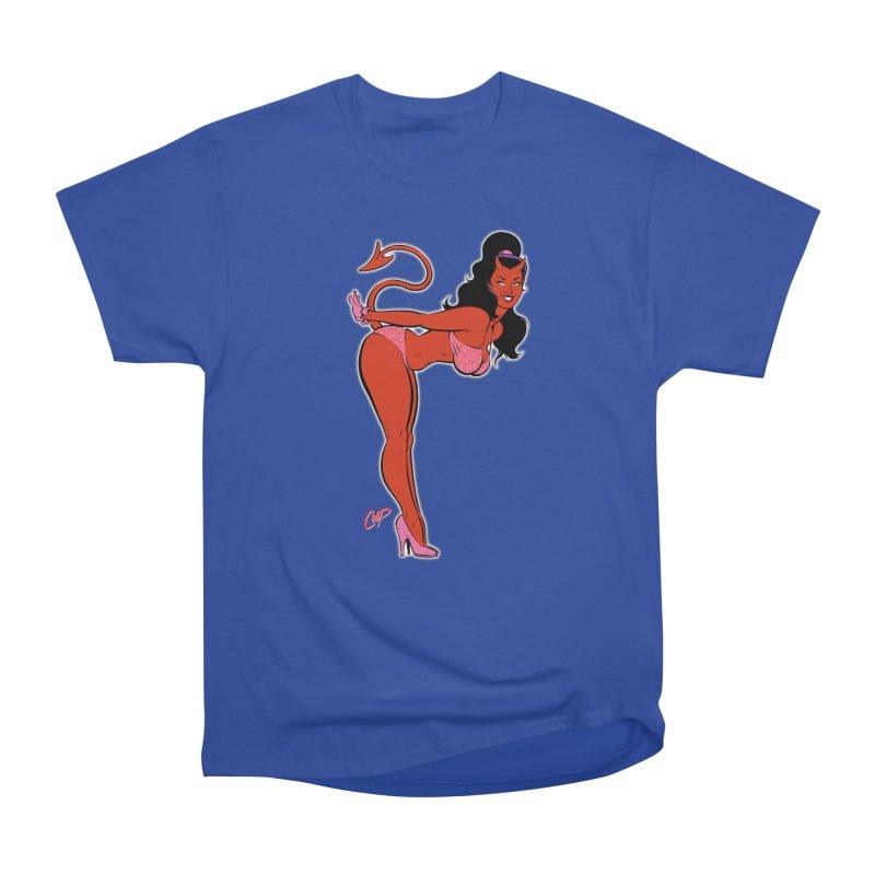 THE DEVIL'S BIKINI Men's Heavyweight T-Shirt by artofcoop's Artist Shop