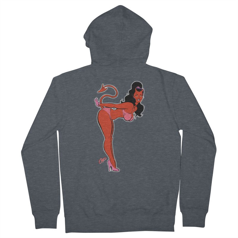 THE DEVIL'S BIKINI Women's French Terry Zip-Up Hoody by The Art of Coop