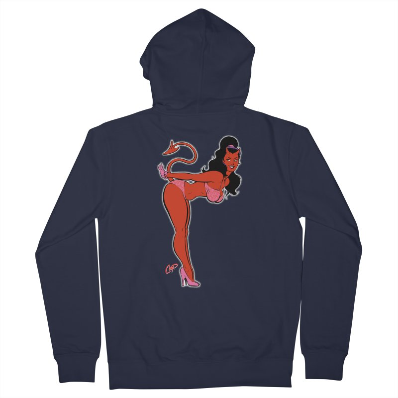 THE DEVIL'S BIKINI Men's French Terry Zip-Up Hoody by The Art of Coop