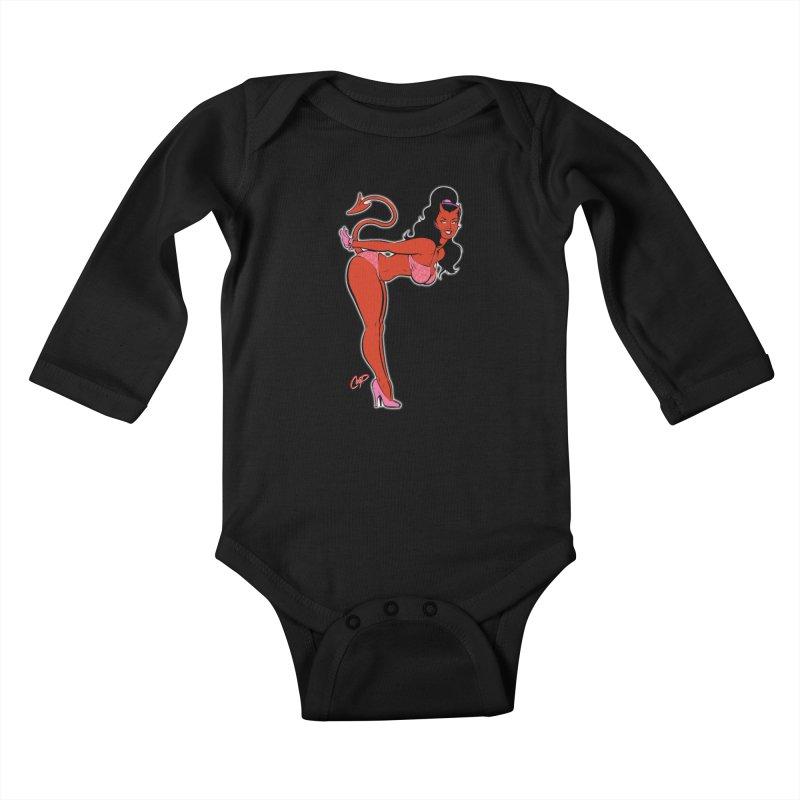 THE DEVIL'S BIKINI Kids Baby Longsleeve Bodysuit by The Art of Coop