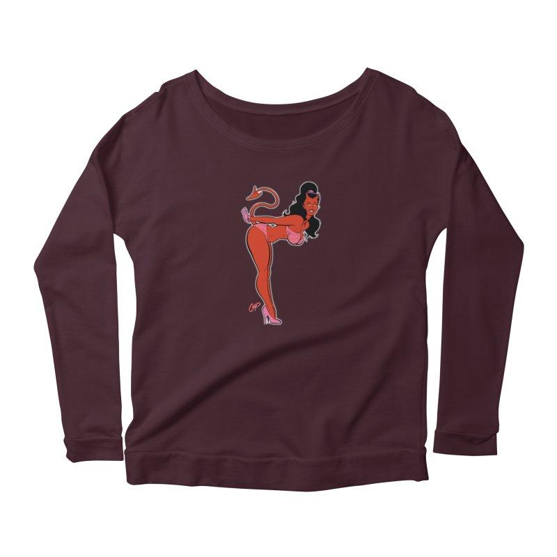 THE DEVIL'S BIKINI Women's Scoop Neck Longsleeve T-Shirt by The Art of Coop