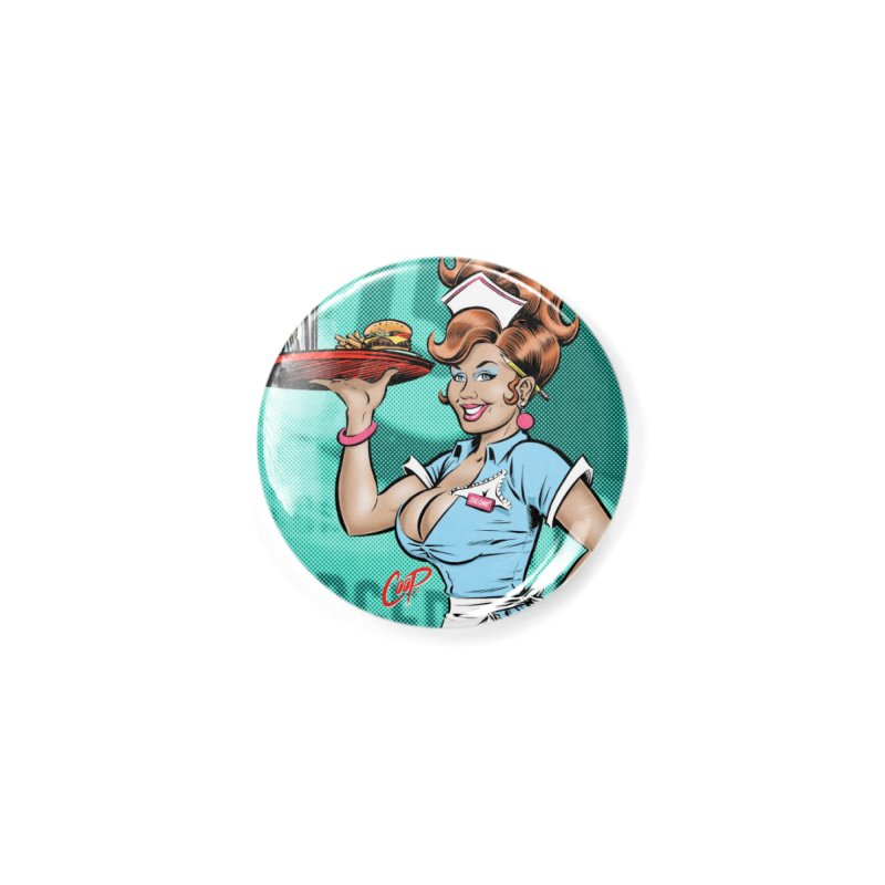 WAITRESS Accessories Button by The Art of Coop