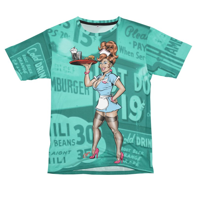 WAITRESS Women's Unisex T-Shirt Cut & Sew by The Art of Coop