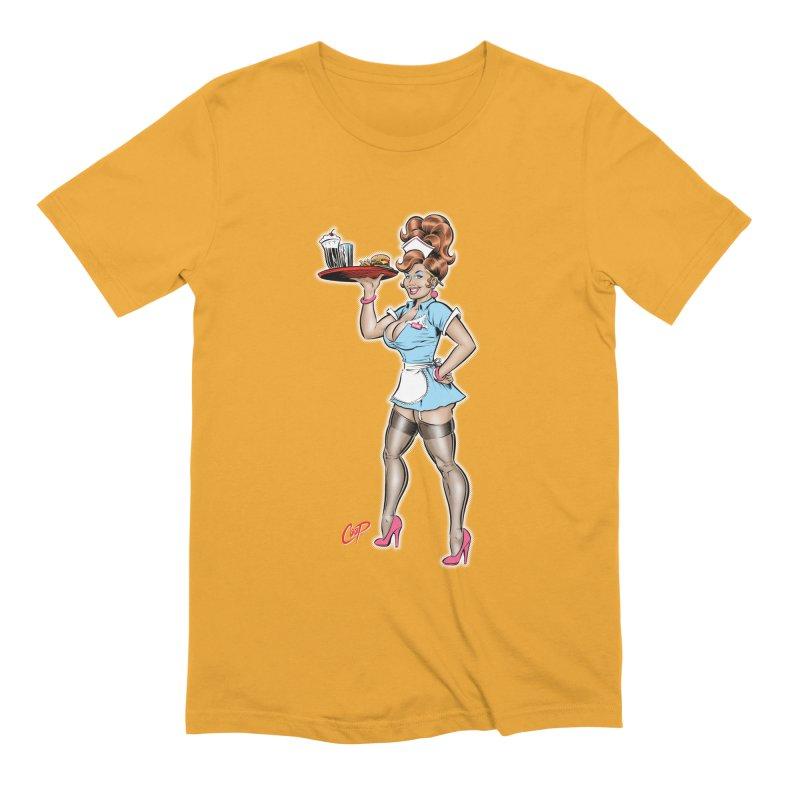WAITRESS Men's Extra Soft T-Shirt by artofcoop's Artist Shop