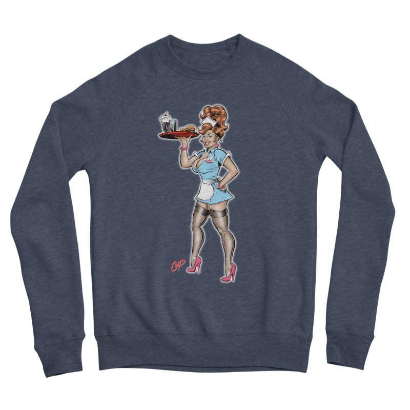 WAITRESS Men's Sponge Fleece Sweatshirt by artofcoop's Artist Shop