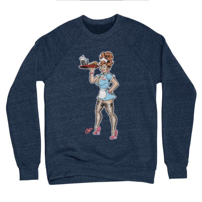 WAITRESS Men's Sponge Fleece Sweatshirt by The Art of Coop