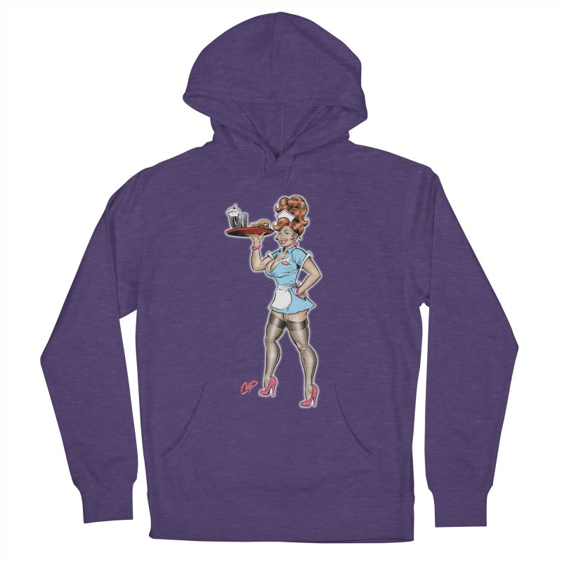 WAITRESS Women's French Terry Pullover Hoody by The Art of Coop