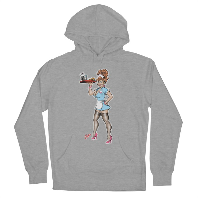 WAITRESS Men's French Terry Pullover Hoody by The Art of Coop