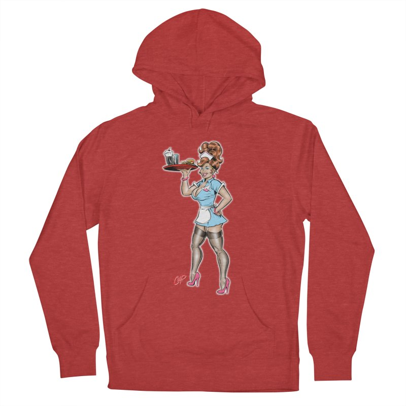 WAITRESS Men's French Terry Pullover Hoody by artofcoop's Artist Shop