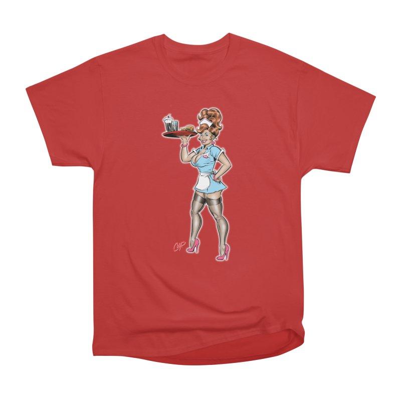 WAITRESS Women's Heavyweight Unisex T-Shirt by artofcoop's Artist Shop