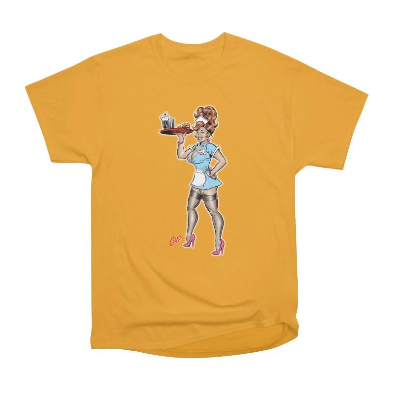WAITRESS Men's Heavyweight T-Shirt by artofcoop's Artist Shop
