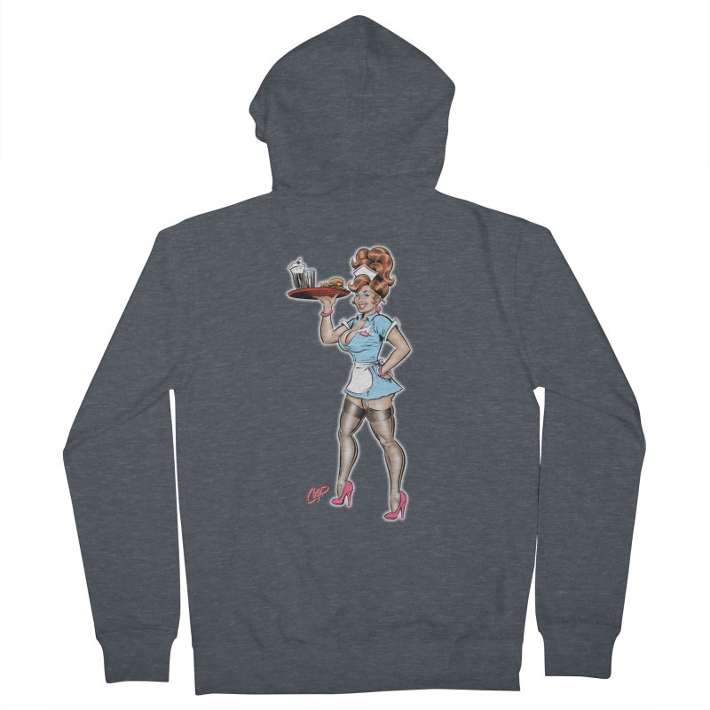WAITRESS Women's French Terry Zip-Up Hoody by The Art of Coop