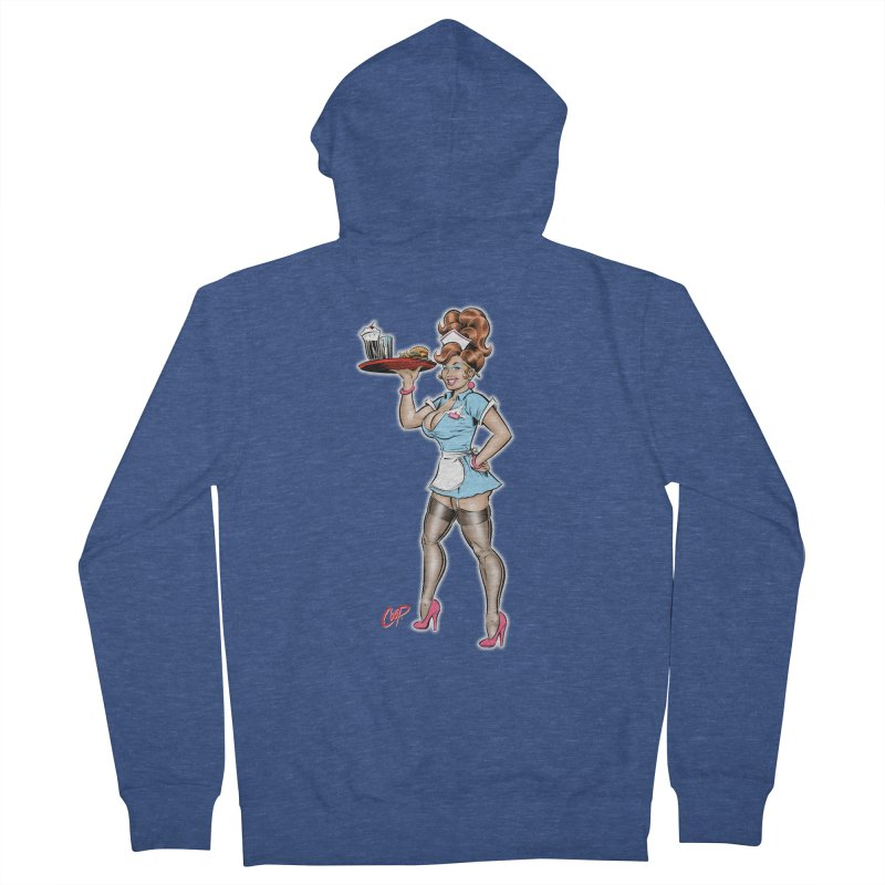 WAITRESS Men's French Terry Zip-Up Hoody by The Art of Coop
