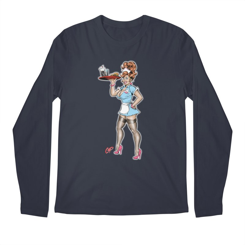 WAITRESS Men's Regular Longsleeve T-Shirt by artofcoop's Artist Shop