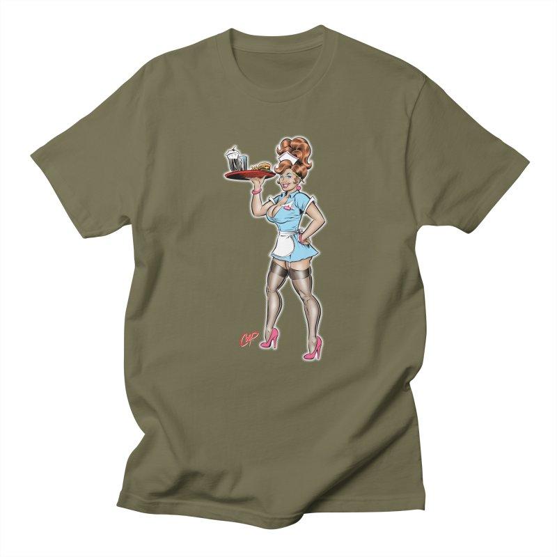 WAITRESS Men's Regular T-Shirt by The Art of Coop