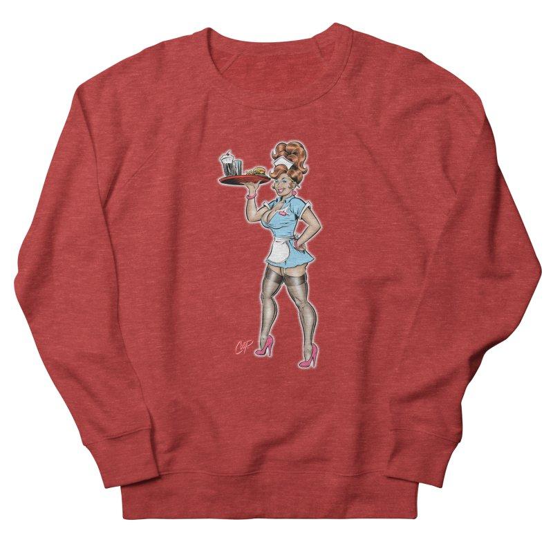 WAITRESS Women's French Terry Sweatshirt by artofcoop's Artist Shop
