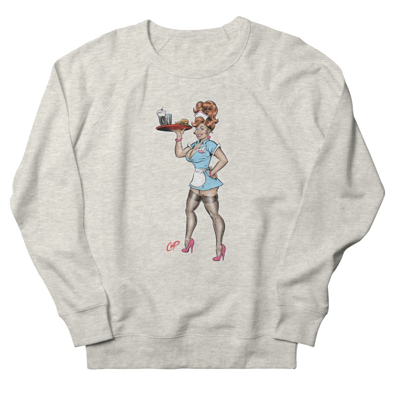 WAITRESS Men's French Terry Sweatshirt by The Art of Coop