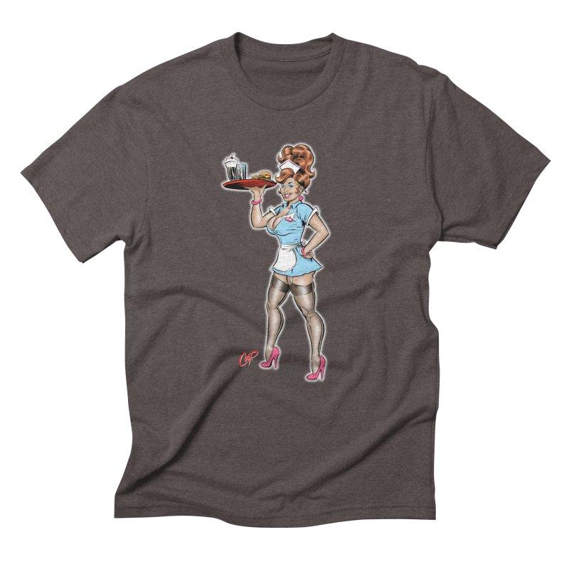 WAITRESS Men's Triblend T-Shirt by The Art of Coop