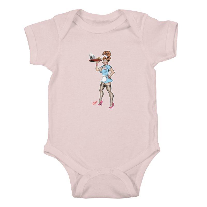 WAITRESS Kids Baby Bodysuit by The Art of Coop
