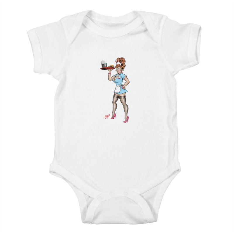 WAITRESS Kids Baby Bodysuit by The Art of Coop