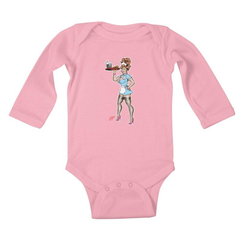 WAITRESS Kids Baby Longsleeve Bodysuit by The Art of Coop
