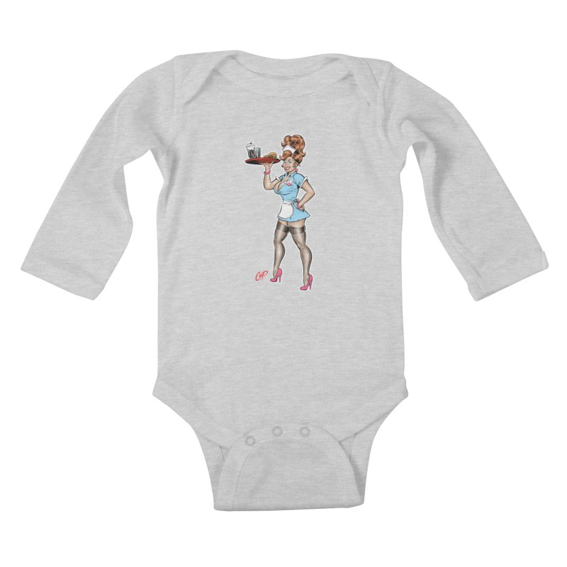 WAITRESS Kids Baby Longsleeve Bodysuit by The Art of Coop