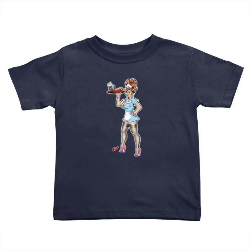 WAITRESS Kids Toddler T-Shirt by The Art of Coop