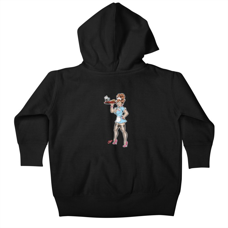 WAITRESS Kids Baby Zip-Up Hoody by The Art of Coop