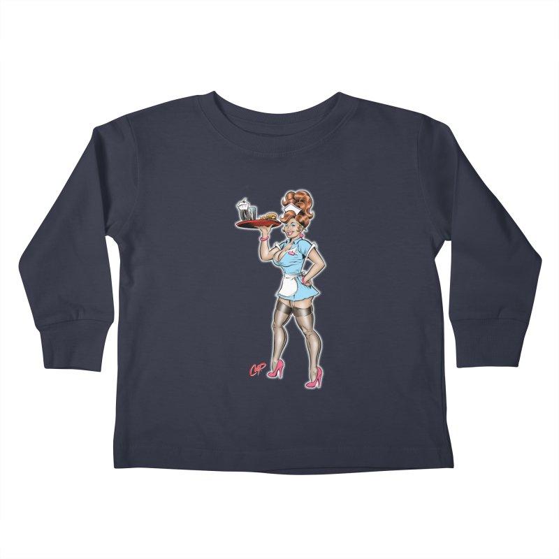 WAITRESS Kids Toddler Longsleeve T-Shirt by The Art of Coop