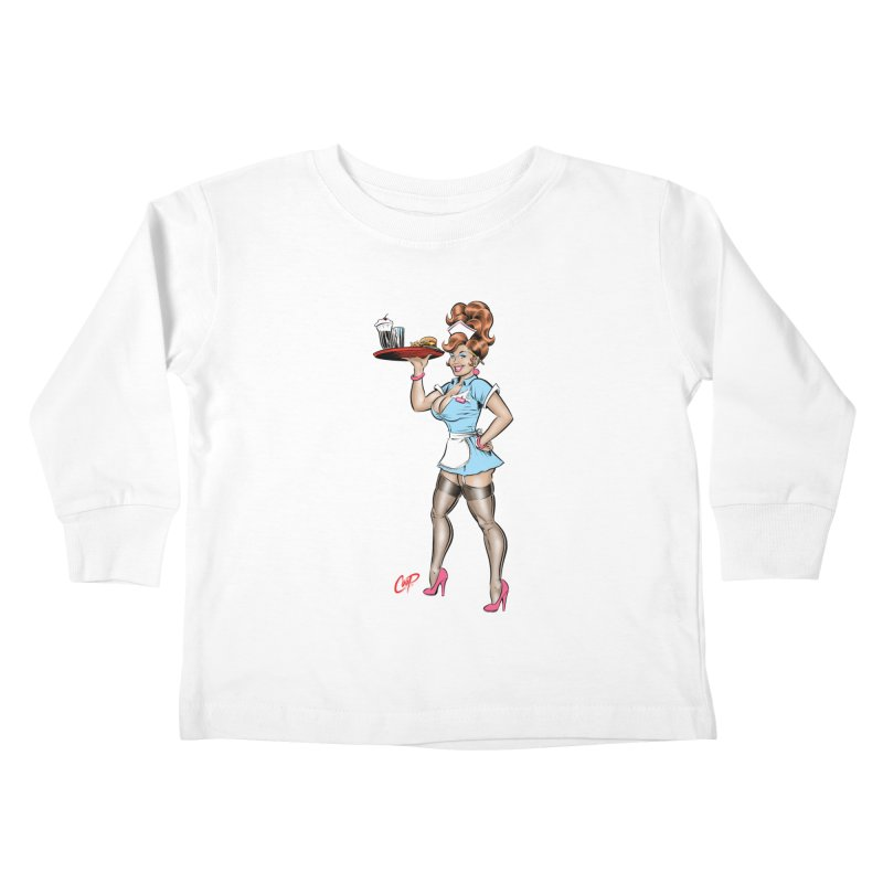 WAITRESS Kids Toddler Longsleeve T-Shirt by The Art of Coop