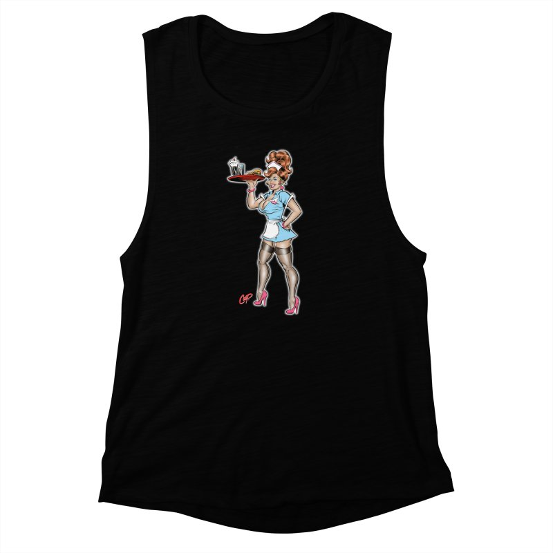WAITRESS Women's Muscle Tank by The Art of Coop