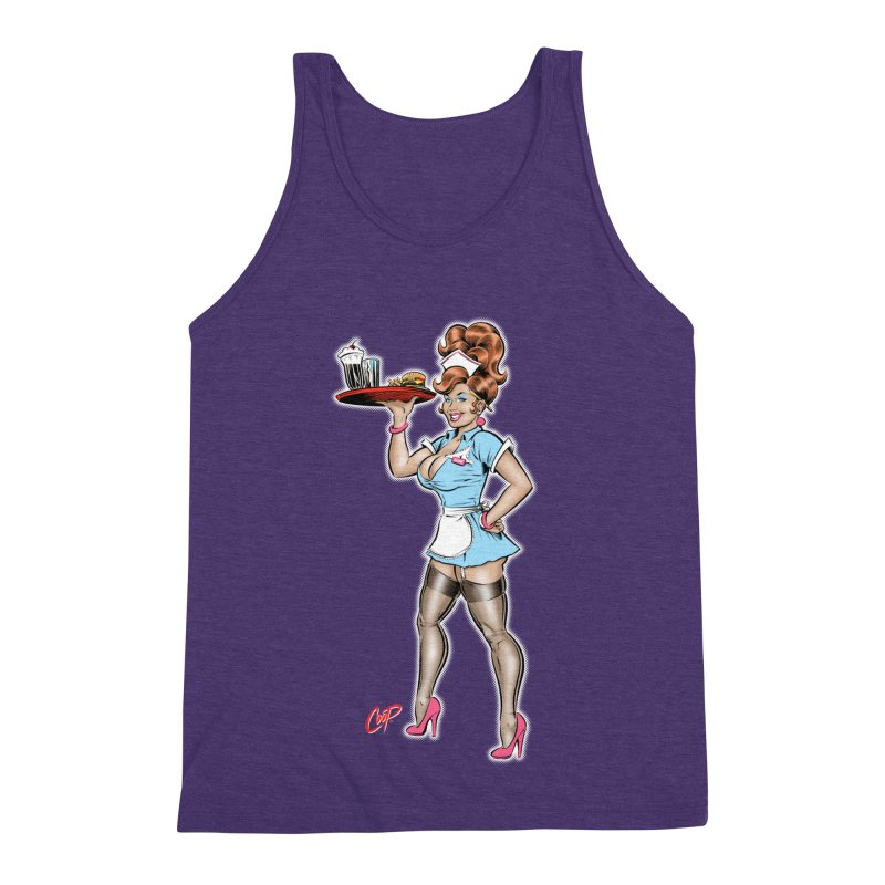 WAITRESS Men's Triblend Tank by The Art of Coop
