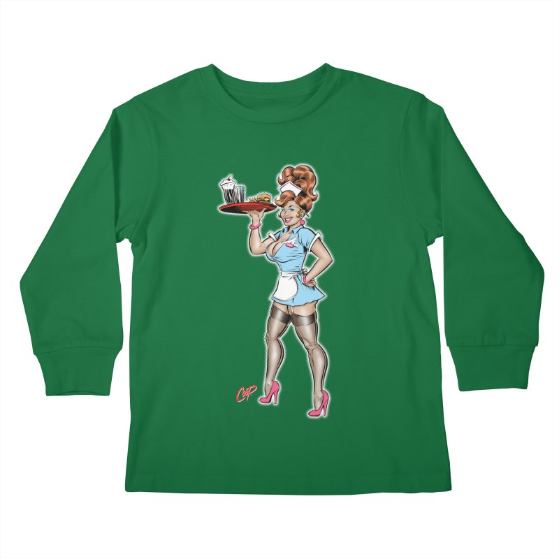 WAITRESS Kids Longsleeve T-Shirt by The Art of Coop