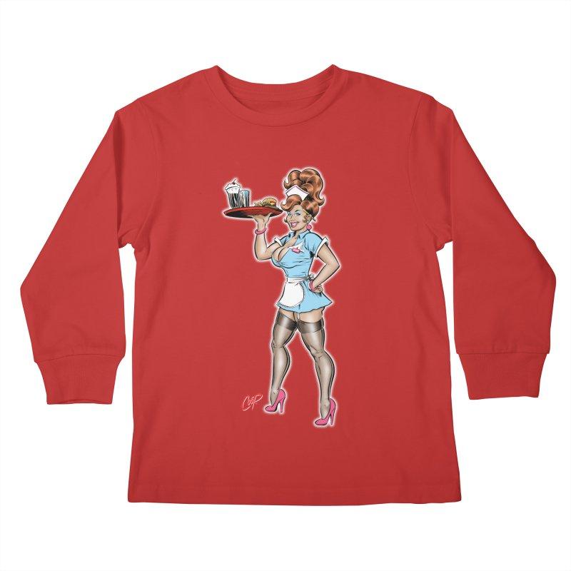 WAITRESS Kids Longsleeve T-Shirt by The Art of Coop