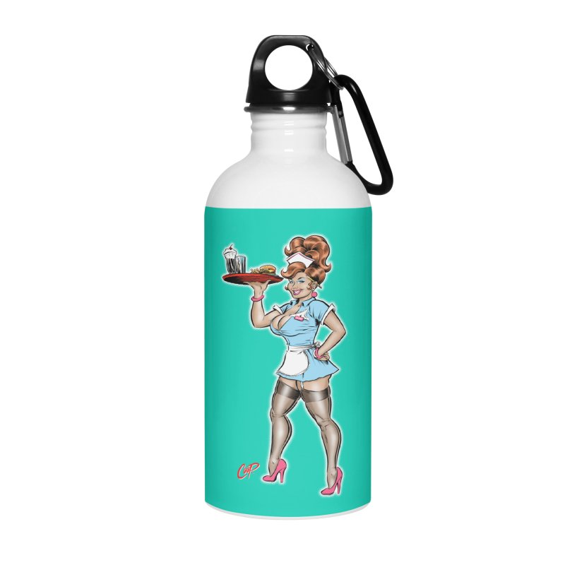 WAITRESS Accessories Water Bottle by artofcoop's Artist Shop