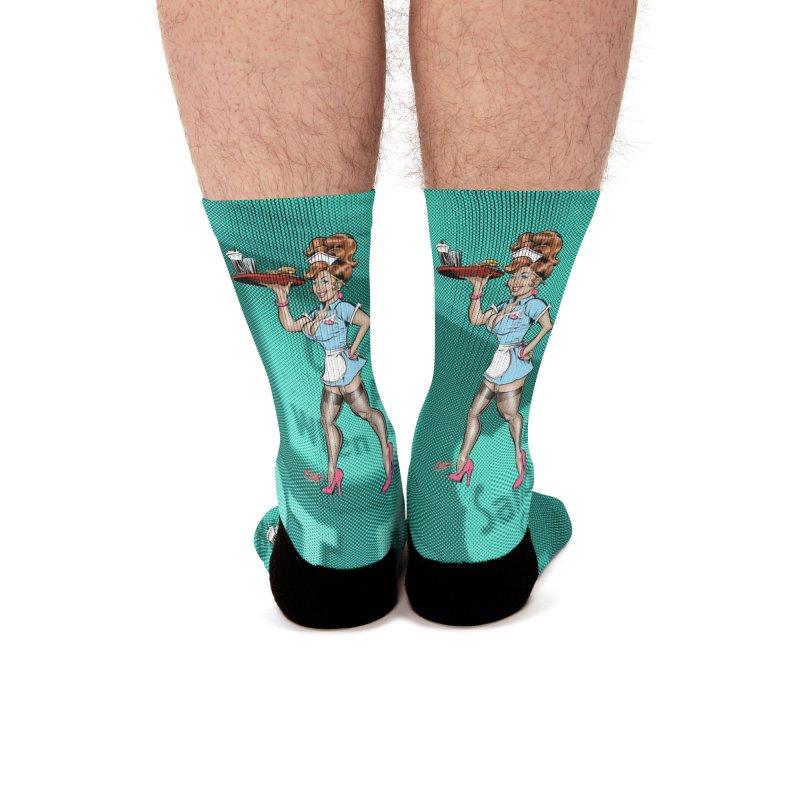 WAITRESS Men's Socks by The Art of Coop