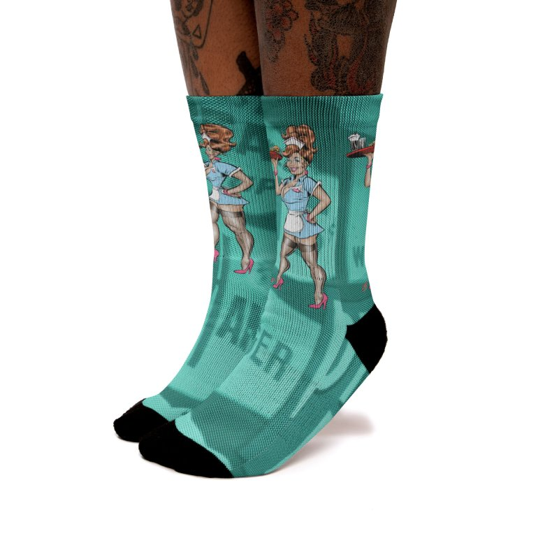 WAITRESS Women's Crew Socks by The Art of Coop