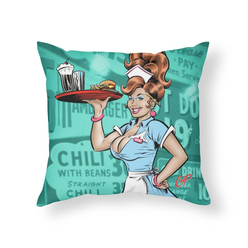 WAITRESS Home Throw Pillow by The Art of Coop